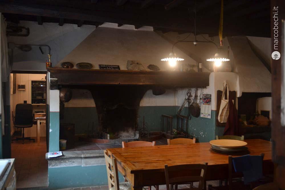 La vecchia cucina della fattoria